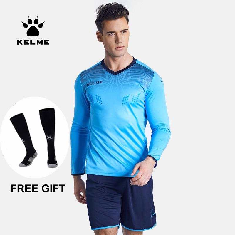 KELME Soccer Sets Goalkeeper Jerseys Men Sponge Football Tracksuit Goalkeeper Uniforms Goalie Sports Training Suits 387100