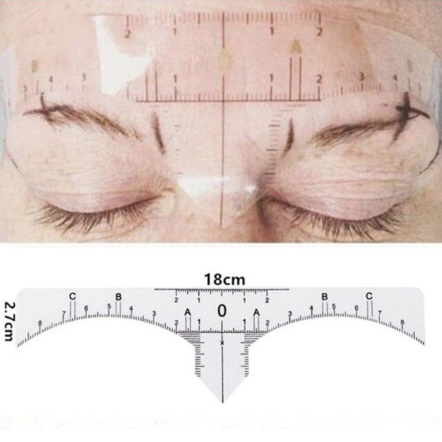 100pcs Reusable Semi Permanent Eyebrow Stencil Makeup Microblading Measure Tattoo Ruler Tools,Eyebrow Stencil 4