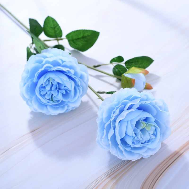 61 ซม.ยุโรปประดิษฐ์ดอกไม้ 3 หัวบ้านผ้าไหม Peony ดอกไม้ต่างประเทศ Rose ดอกไม้ตกแต่ง PARTY Decor 1pcs