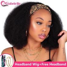Gabrielle perruque bandeau femme cheveux humains court Afro crépus bouclés bandeau femme pour perruque 4c cheveux humain couleur naturelle brésilienne tresse africaine