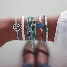 Bohemian Small Bracelets Fresh Blue Friendship Bracelet Jewelry Cactus Rice Beads Bracelet Fantasy Wristlet Shiny Girl Wristband(China)