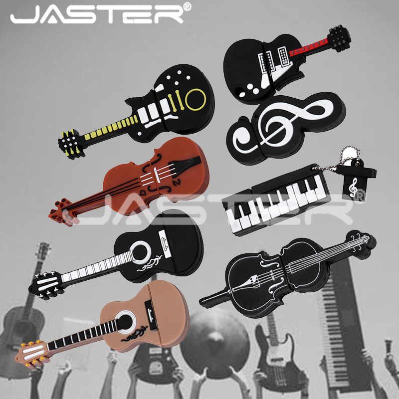 Jaster Thực Dung Lượng 8 Phong Cách Instrumenty Muzyczne Modelu Pendrive 4 GB 16 GB 32 GB 64 GB Đèn LED Cổng USB skrzypce/Piano/Gitara