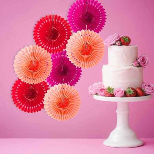 5 sztuk 20cm bibułka wycinane papierowe wentylatory wiatraczek wiszący kwiat rzemiosło papierowe na prysznice wesele urodziny festiwal