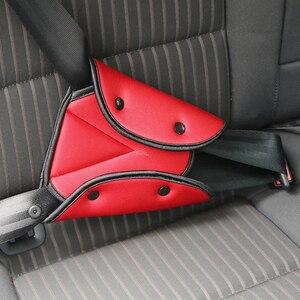 Capa de cinto de segurança do carro triângulo almofada clipes proteção bebê criança para kia rio x-line rav4 prado h4 150 land cruiser 200 nissan juke