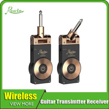 Rowin 2.4G Guitar Wireless System Transmitter Receiver For Electric Bass Golden Color