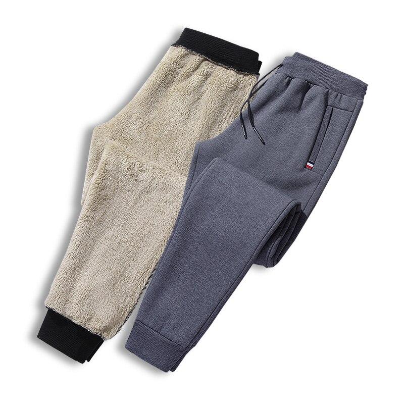 Men's Winter Super Warm Pants Outside Fleece Joggers Thicken Sweatpants Heavyweight Plus Velvet Trousers Streetwear Men 8XL