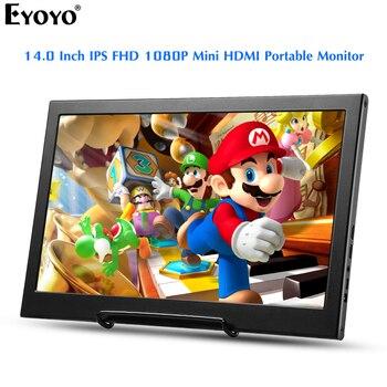"""Eyoyo EM14F 14,0 """"Портативный второй монитор экран для ноутбука ПК IPS Dual Mini HDMI игровой монитор 1920x1080 FHD дисплей для PS4"""