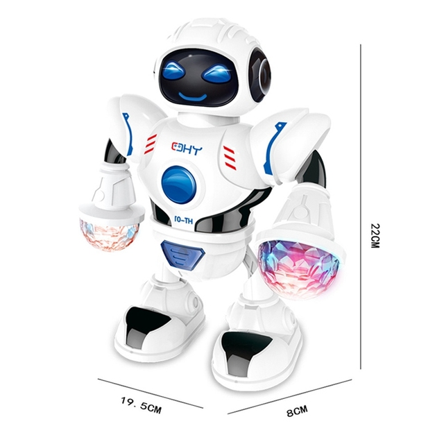 KaKBeir Mini RC Robot with lighting Music Dancing Intelligent Model Simulated walking robots Early educational Toys for children 6