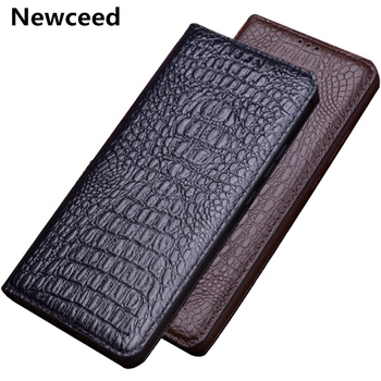 Genuine Leather Magnetic Holder Thin Case For OPPO A9 2020/OPPO A9 2019/OPPO A5S/OPPO AX5S/OPPO A5 2020 Flip Holster Cover Coque фото