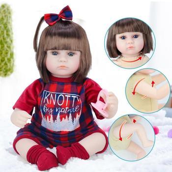 42cm Straight Hair Reborn Baby Doll Adorable Soft Lifelike Doll Simulation Bebe Doll Toys For Girls 1