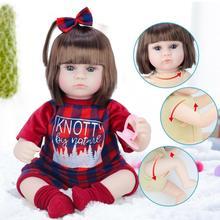 42cm Straight Hair Reborn Baby Doll Adorable Soft Lifelike Doll Simulation Bebe Doll Toys For Girls
