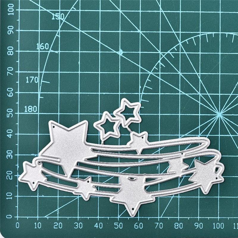 Sky stars Metal DIY Cut Dies Stencil Scrapbook Album Paper Card Emboss Craft LL