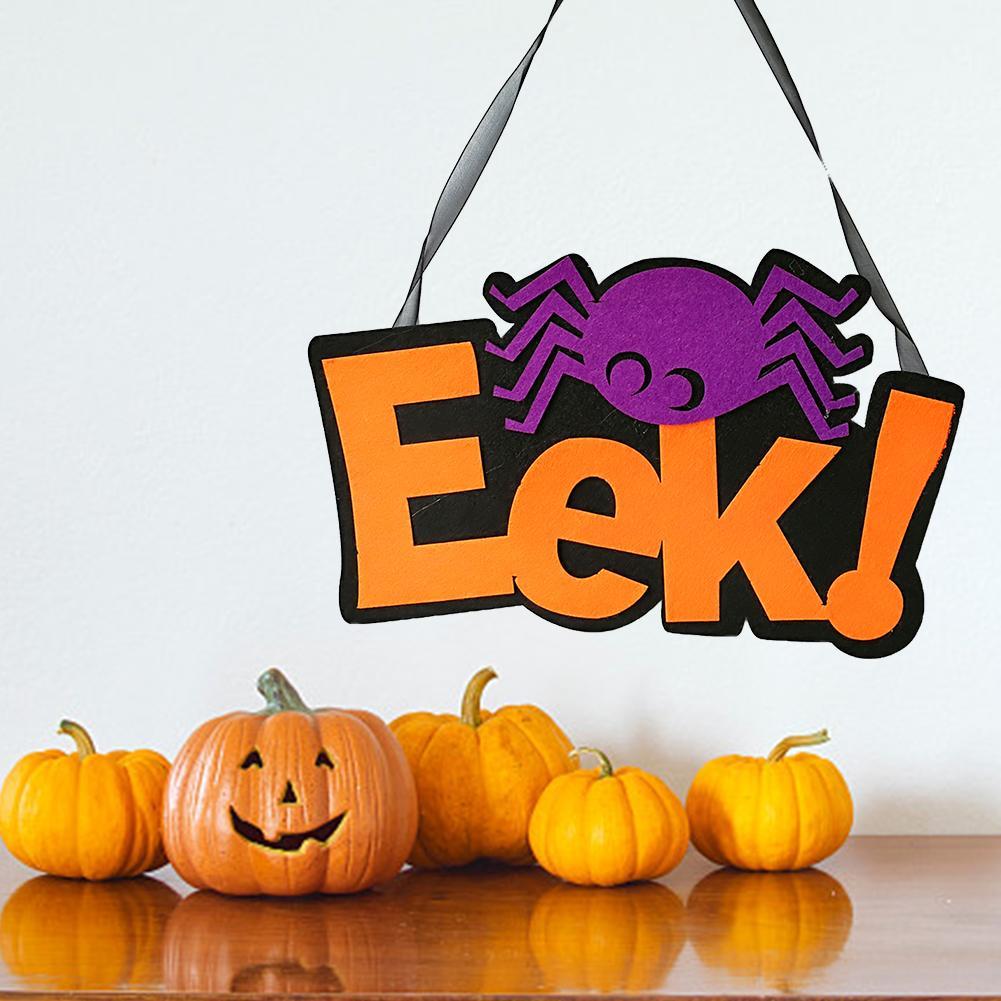 Halloween Non woven Door Hanging Ghost Festival Spider Ghost