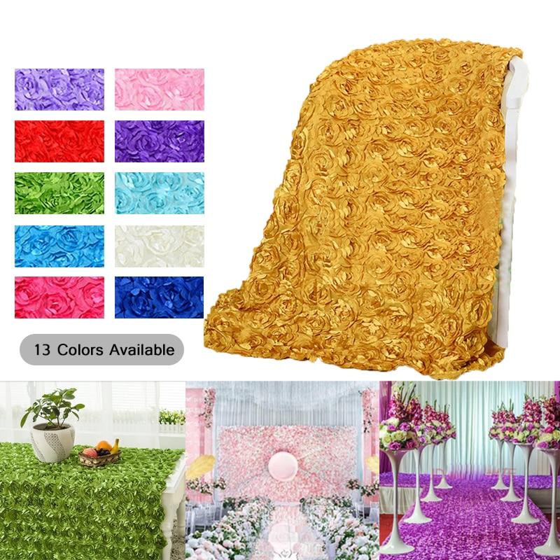 (1.4mx5yard ) Wedding decoration 3D rose flower fabric wedding carpet party background DIY decoration home DIY decor