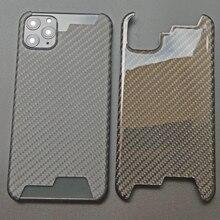 Gerçek karbon Fiber iPhone için kılıf 11 Pro Max durumda ultra ince Aramid elyaf koruyucu iPhone XS için Max XR 7 8 artı kapak Coque