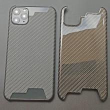 Prawdziwa obudowa z włókna węglowego dla iPhone 11 Pro Max obudowa ultr cienkie włókno aramidowe ochronne dla iPhone XS Max XR 7 8 Plus pokrywa Coque