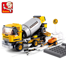 Sluban 0550 cement mixers ruban blocks to the new project Fancy toy Minifigure Building Blocks Bricks Toys Lego Compatible