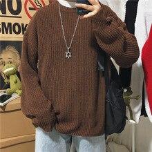 Zimowy sweter męski ciepła moda Retro sweter z dzianiny w stylu Casual Men dzikie luźne koreańskie swetry dziergane męskie ubrania M-2XL