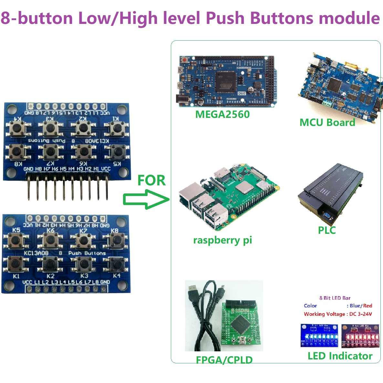 Modul Keyboard 4 Drucktaster 5 Polig Arduino Raspberry Protoboard PCB