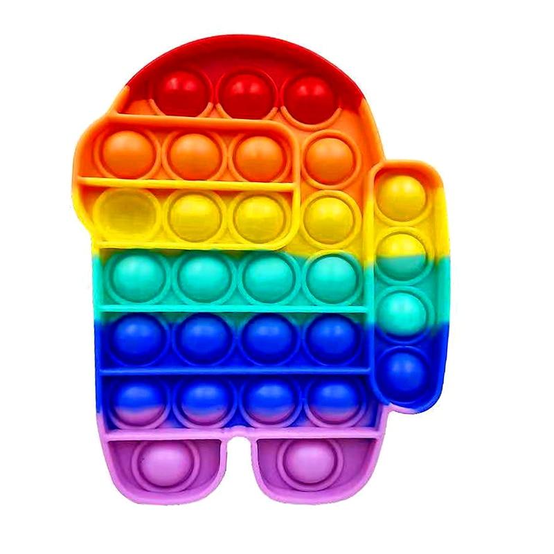 Среди Bubble сенсорная игрушка пуш-ап Непоседа хлопки потребности смять взрослого ребенка забавные поп анти-стресс Непоседа это стресс Reliver иг...
