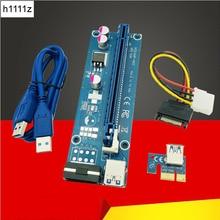 Cables de ordenador conectores PCIE Riser PCI E 16x/x16 Riser para tarjeta de Video Cable USB 3,0 Molex 4Pin de alimentación SATA para la minería de Bitcoin