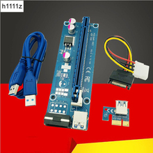 Computer Cables Connectors PCIE Riser PCI E 16x/x16 Riser for Video Card Cable USB 3.0 Molex 4Pin SATA Power for Bitcoin Mining