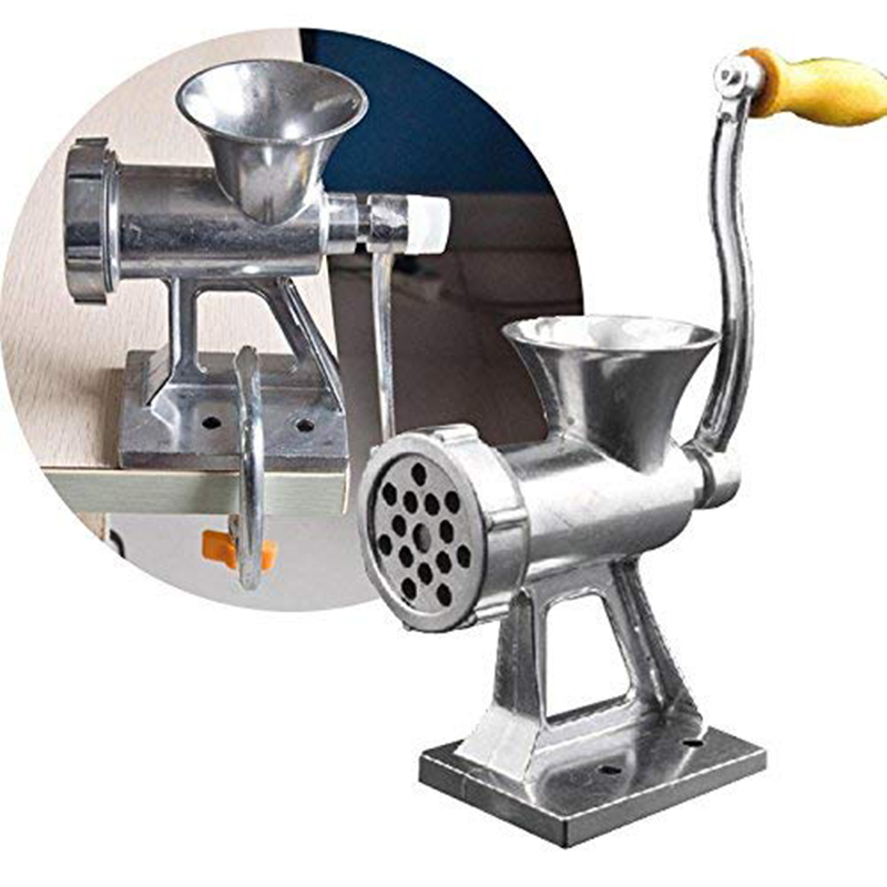 Stainless Steel Manual Meat Grinder Multifunction Meat Grinder With Long Tube Filling Sausage Machine Grinding Set Kitchen Tools