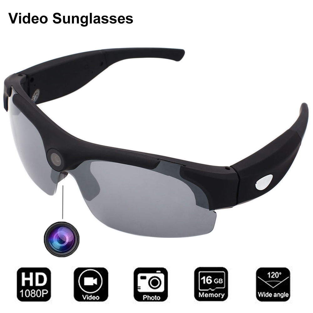 Conway Sports Sunglasses With Camera Shooting Glasses Eyewear HD 1080P Camcorder Headsets Outdoor Sun Glasses Photochromic