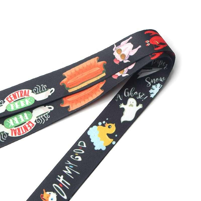DMLSKY TV Show Friends Phone Lanyard Cool Lanyards for Keys Phone Rope Keychanis Keyring Neck Straps Phone Accessories M2583