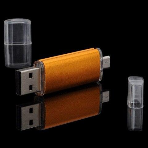 Креативный мобильный телефон компьютер U диск 8G/16G/32g ot g двойной разъем крутой USB накопитель настраиваемый Lo G O