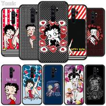 Betty Boop Fitted Case for Xiaomi Redmi Note 8T 6 7 8 K20 Pro 8A 7A 7S 6A Silicone Black Phone Bag Cover Coque pubg game fitted case for xiaomi redmi note 8t 6 7 8 k20 pro 8a 7a 7s 6a silicone black phone bag cover coque