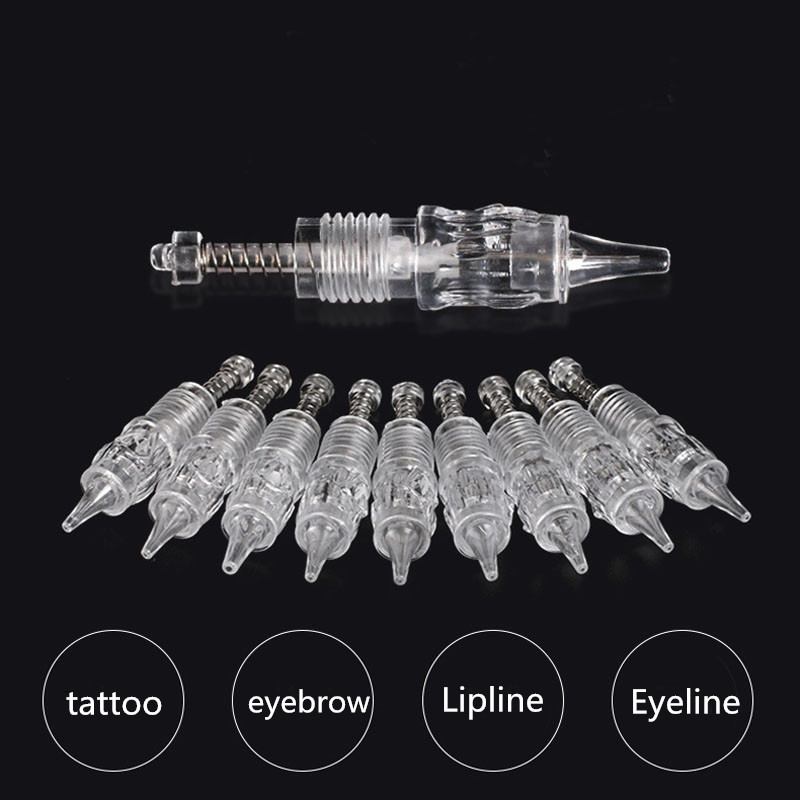 Tattoo Machine Accessory 20pcs Tattoo Needle Cartridge Eyebrow Needle Lipline Needle Eyeline RL/RS/F Disposable Tattoo Needle