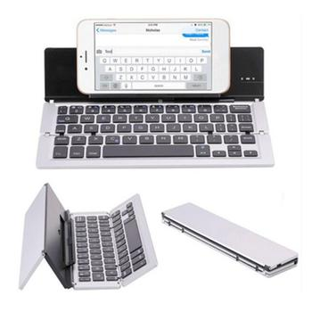 Mini folding keyboard Bluetooth Foldable Wireless Keypad with Touchpad for Windows,Android,ios Tablet ipad Phone keyboard mini compact triple folding keyboard wireless phone tablet keyboard with mouse touchpad