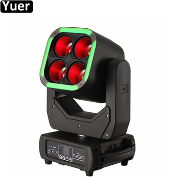 DMX512 Control Arrival Bright Four Eyes 4X60W Stage Light 64X1.5W LED Moving Head Super Beam Wash Zoom 3IN1 Light For DJ Disco 10pcs lot cheap stage light 36 15w 5 in 1 led zoom moving head wash light rgbwy color mixing dmx512 lighting control