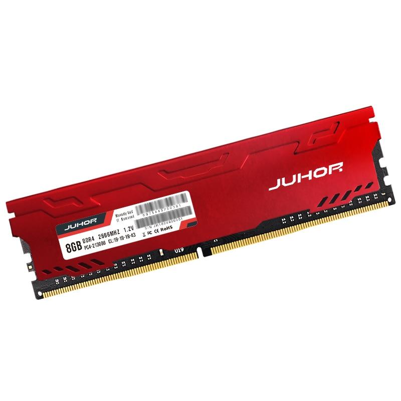 JUHOR memoria ram ddr4 16GB 4GB 8GB  32GB Desktop Memory  udimm 2133mhz 2400mhz 2666mhz New dimm rams with  Heat sink 4