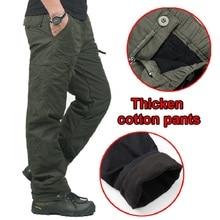 Pantalón grueso cálido de invierno para hombre, pantalón largo de algodón táctico, con forro polar de doble capa, estilo militar, Camuflaje, para hombre