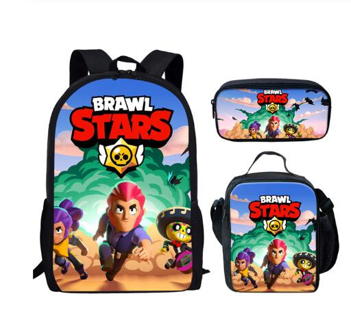 16 Inch Hot Kids Shooting Game Stars School Bags For Boys Girls Gifts Student Book Backpack Pen Pencil Schoolbag