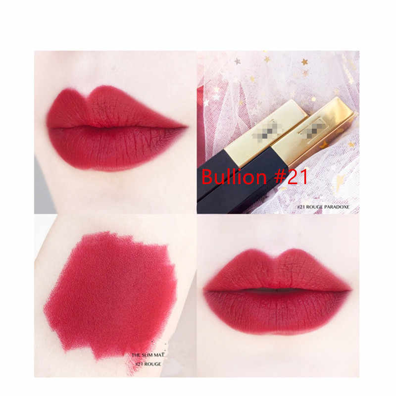 Matte durable lipstick private custom popular color waterproof moisturizing lipstick star style gold bar 21 colors