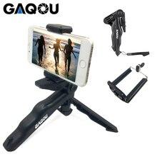 Универсальный мини штатив GAQOU, вращающийся настольный штатив 90 дюймов с ручкой, стабилизатор для мобильного телефона, камеры Go Pro, с зажимом для держателя сотового телефона