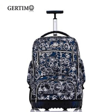 School Rolling Backpack 19 Inch Wheeled For Boys Bag On Wheel Children Travel Trolley Teenagers
