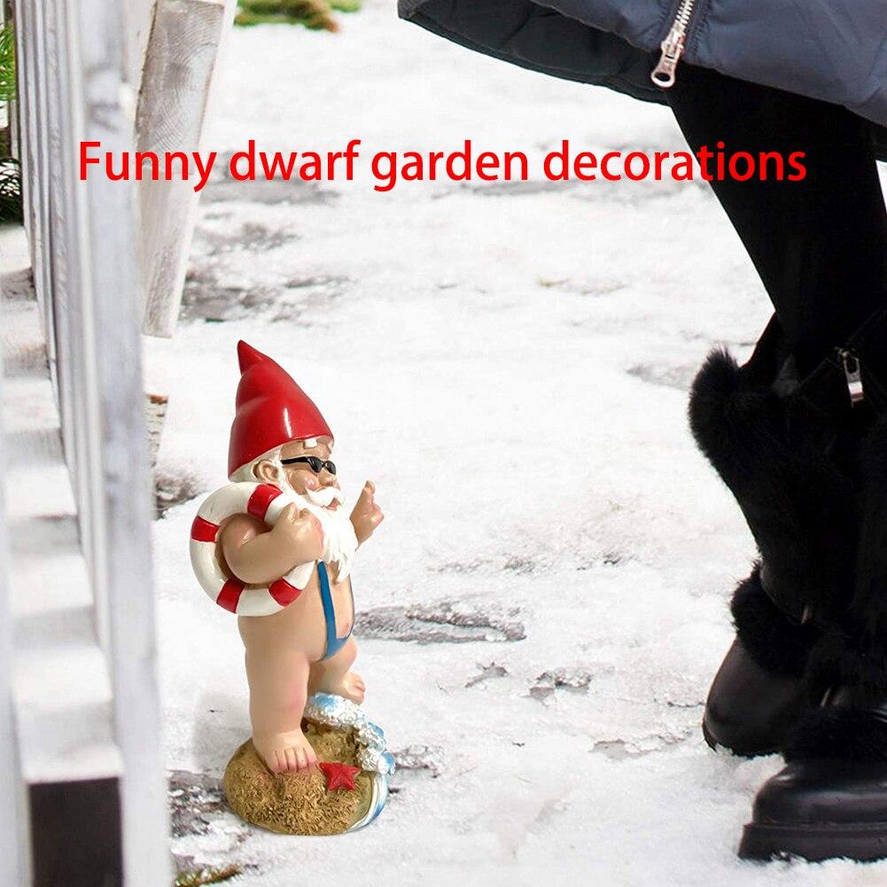 Resin Dwarf 3D Garden Decoration,Funny Garden Statue Decoration Middle Finger Dwarf Dwarf Peeping in The Sewer,Middle Finger Dwarf,Creative Funny Spoof Garden Statue