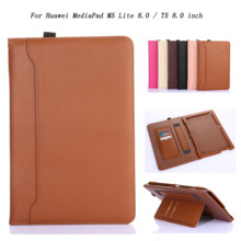 Case Tablet Huawei Mediapad Business-Leather for M5 Lite 8inch Hand-Belt-Holder Stand