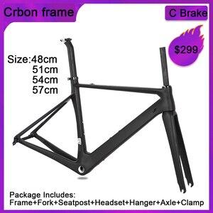 Image 4 - SENSA T800 700C BB68 스레드 최고 품질의 새로운 탄소 도로 프레임 자전거 경주 자전거 frameset 56/58/60/62mm 큰 크기 큰 높이