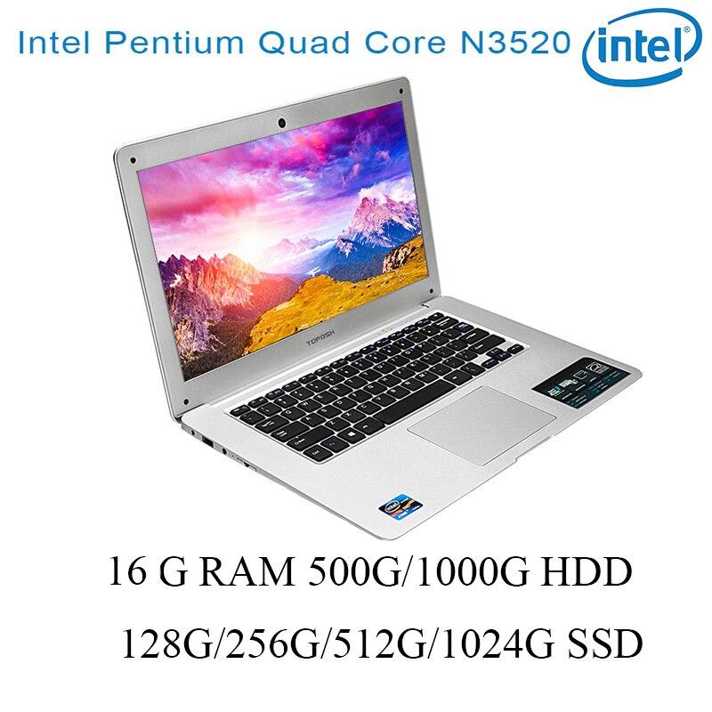 P01 Laptop 8G RAM 128G/256G/512G/1024G SSD 500G/1000G HDD Intel N3520 14