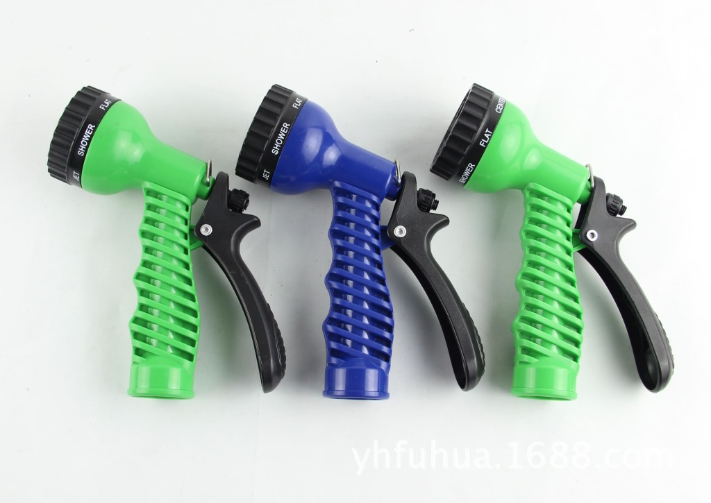 High Pressure Shower Water Gun 7 Feature Squirt Gun Multi-functional Car Washing Gun Telescopic Pipe Water Gun Garden Water Gun