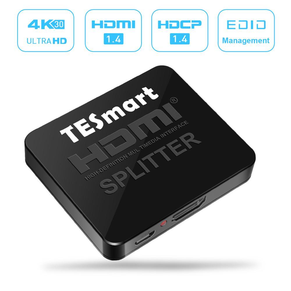 HDMI Splitter 2 Ports Splitter 1 Input 2 Output Splitter HDMI 1 In 2 Out HDMI Splitter 4Kx2K@30Hz 1to2 With 2 PCs PS3/4 Pro
