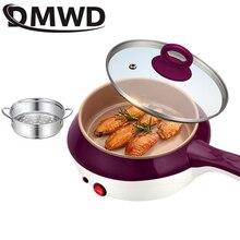 DMWD мини-пароварка из нержавеющей стали для приготовления пищи, яичный котел, электрическая сковорода, мультиварка, лапша, суп для приготовления пищи, сковорода для стейка, ЕС