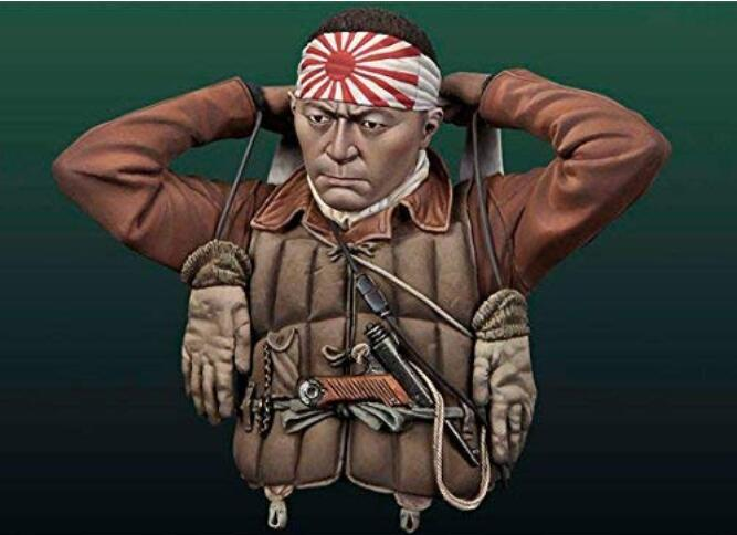 1/10 Ancient Pilot  Man With Long Scarf Bust   Resin Figure Model Kits Miniature Gk Unassembly Unpainted