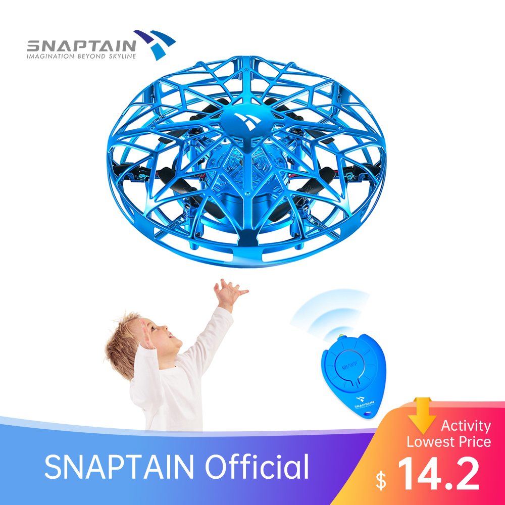 SNAPTAIN SP330 Hand Operated Drone Flying Toys Mini Drones 3D Flips Hand Operated Hand Control toy drone dron for Kids or Adults