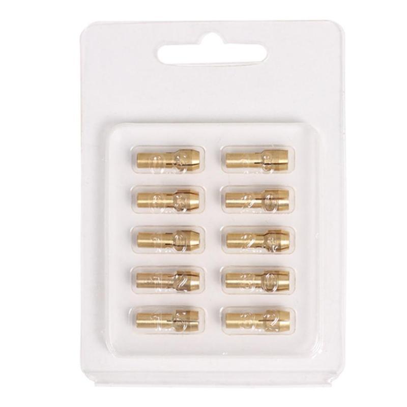 10pcs Mini Brass Copper Collets Chucks for Twist Drill Motor Shaft Grinder